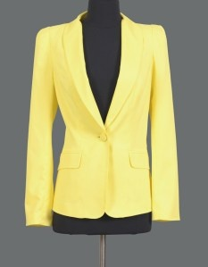 Honey and Beau prepare for impact yellow blazer $129 | threads and style