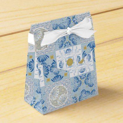 Floral Quilt Tile Art Nouveau Favor Box - vintage wedding gifts ideas personalize diy unique style