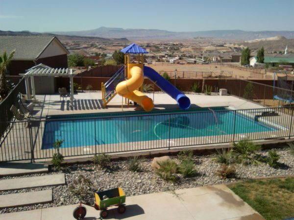 Backyard Pools With Slides 41 best pool add ons images on pinterest | backyard ideas, dream