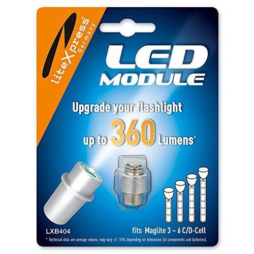 LiteXpress LXB404 Module à… http://www.123bazar.fr/produit/litexpress-lxb404-module-a-led-300-lm-pour-lampe-de-poche-maglite-a-4-6-piles-cd/
