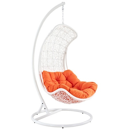 Hanging chair with orange cushion - LOVE