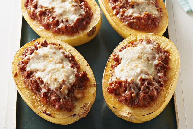 Imagine a cheesy, meaty lasagna stuffed into squash halves instead of layered…