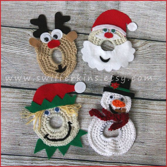 Christmas lens buddies. Holiday camera helper. Camera critter by KikisKreationsprops on Etsy