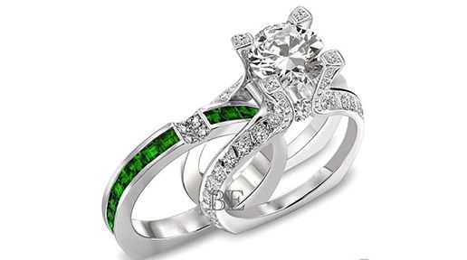 This #Irish #EngagementRing comes ready made for an emerald #weddingband. To read more click here: http://www.irishcentral.com/culture/The-top-Irish-engagement-rings-PHOTOS.html