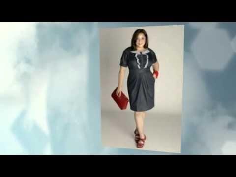 Джинсовые платья для полных женщин - модные тенденции 2015 года, где купить, цены и фото