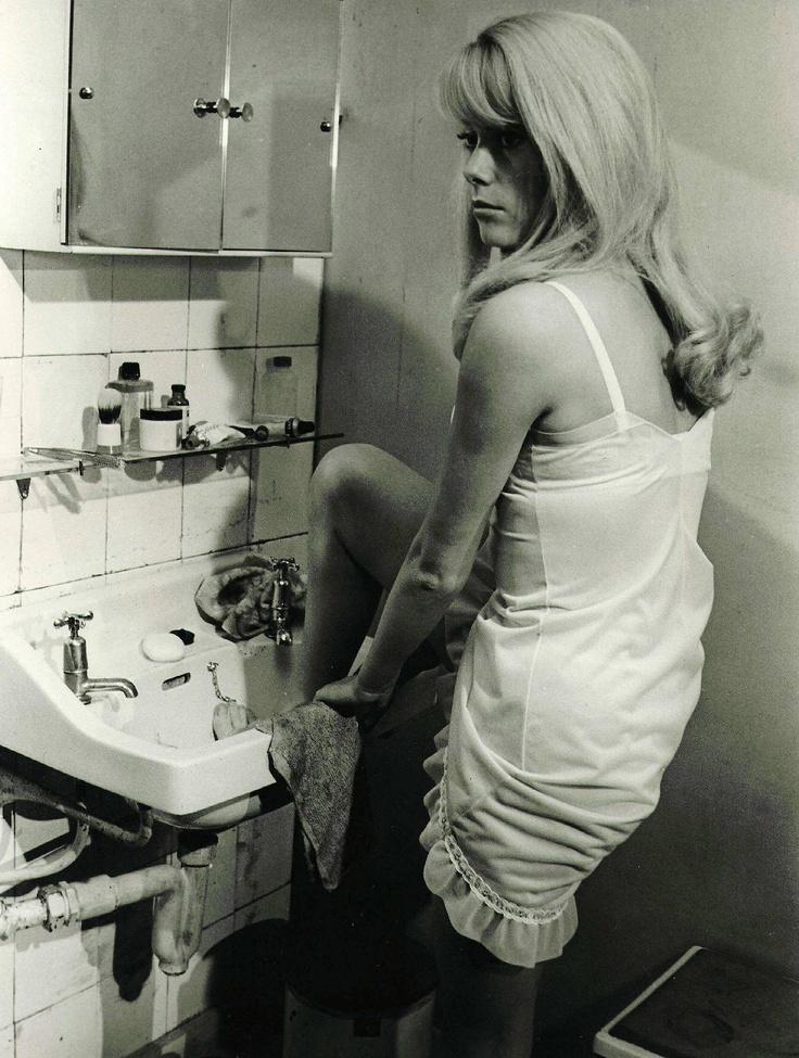 Catherine Deneuve in Repulsion (1965).