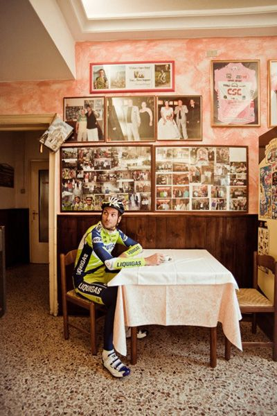 Professional cyclist portraits by Richard Baybutt - Ivan Basso  Location: Italy, October 2010  Featured in Cycle Sport January 2011