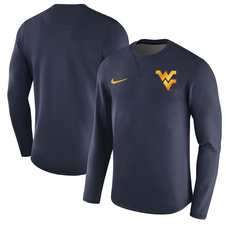 West Virginia Mountaineers Nike Modern Pullover Sweatshirt - Navy