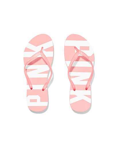 The new flip-flops from the new PINK dorm collection. want both colors.
