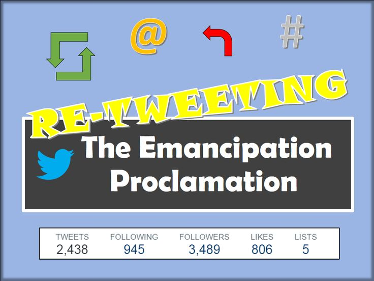 Students re-Tweet the Emancipation Proclamation!  Lots of fun!