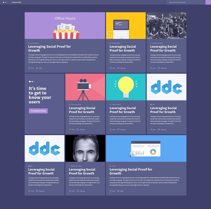 Mixpanel New Blog Design by Julien Renvoye for Mixpanel