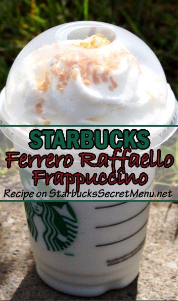 Presenting Starbucks Ferrero Raffaeollo Frappuccino! Chocolate coconutty deliciousness! #StarbucksSecretMenu