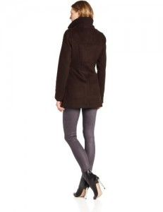Coats women  Kenneth Cole New York Women's Toggle Coat, Cappuccino, Medium On Sale