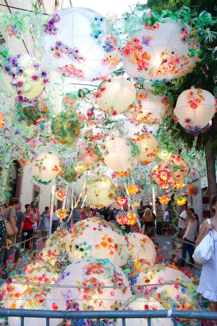 Street Decor - Gracia District Festivity on the 2nd fortnight of August - Barcelona, Catalonia.