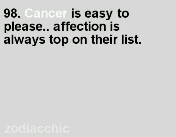 Cancer fact, very true.