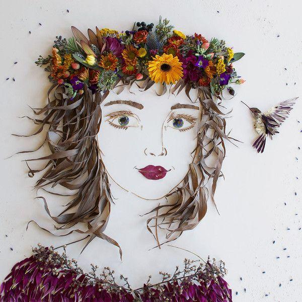 """""""Charlotte"""" Flower Face Print"""