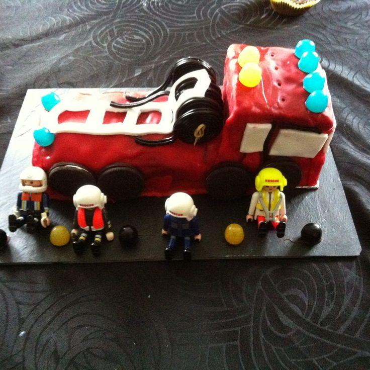 Gateau d'anniversaire Camion de pompier                                                                                                                                                                                 Plus