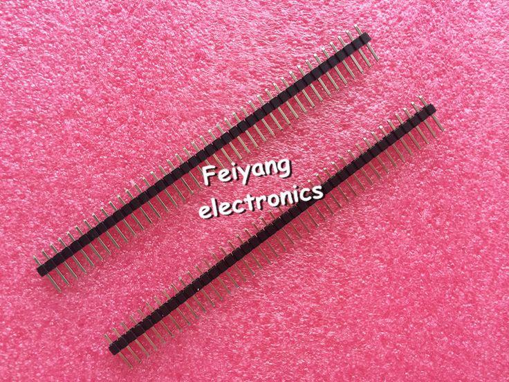 10 pcs 40 Pin 1x40 Pria 2.54 Pecah Pin Header Baris Tunggal Konektor Strip untuk Arduino Hitam