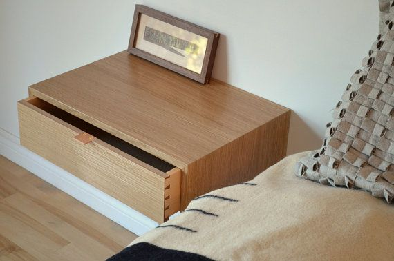 White Oak nightstand set with hand cut dovetailed от tealandgold