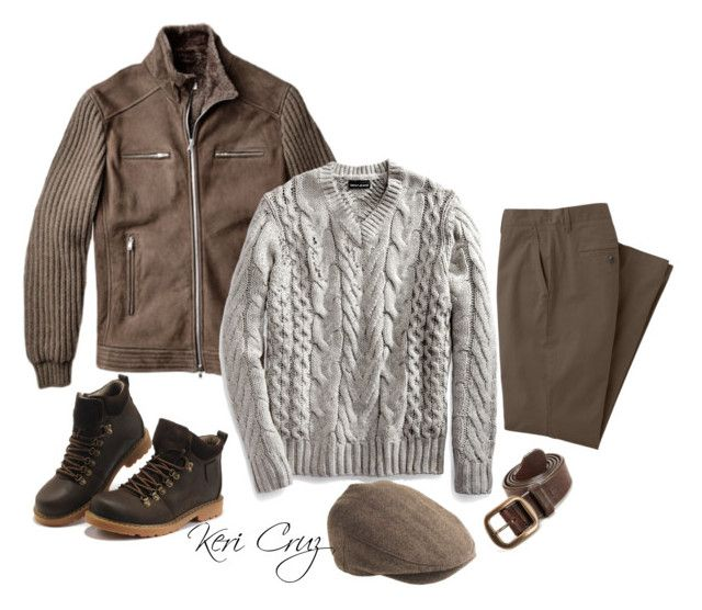 """""""Rugged Gentleman"""" by keri-cruz ❤ liked on Polyvore featuring J.Crew and Marc"""