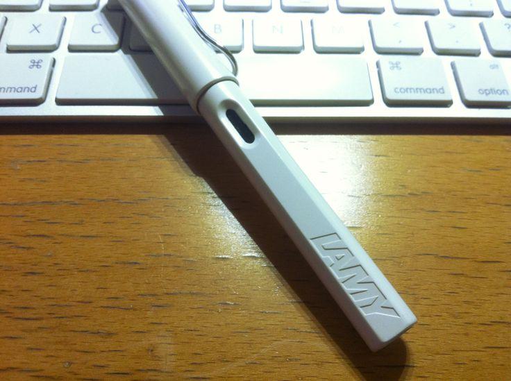 I usually use the fountain pen.