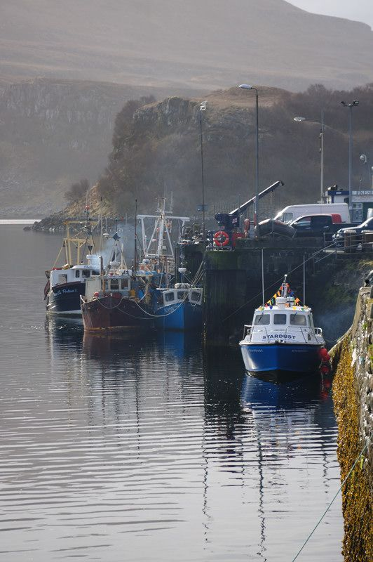 Portree Port in Isle of Skye.  We had fresh fish and chips right out of a newspaper wrapper.  It was delicious!