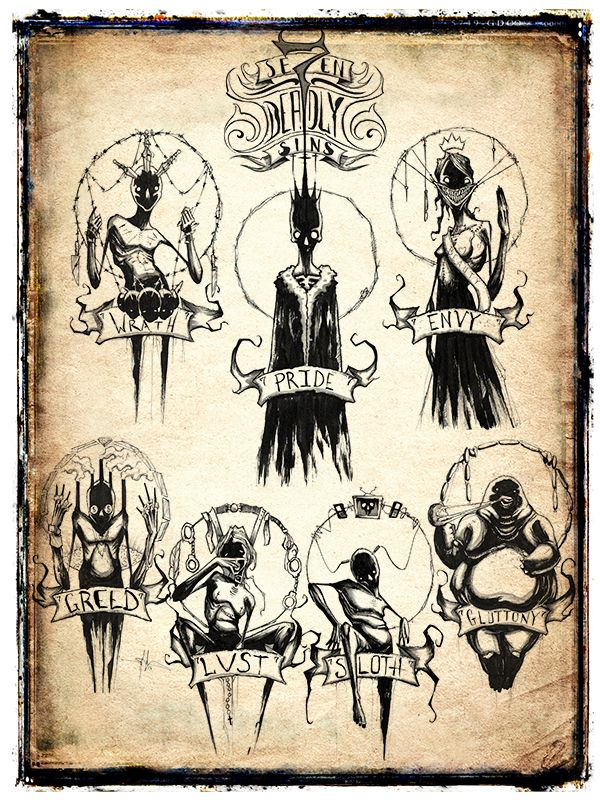 Se7en Deadly Sins Limited Print The time has come to repent your sins! Well not really. But it is time for you to pick up one of my limited 18x24 inch prints featuring all 7 deadly sins! Each one comes hand signed by me and free shipping anywhere in...
