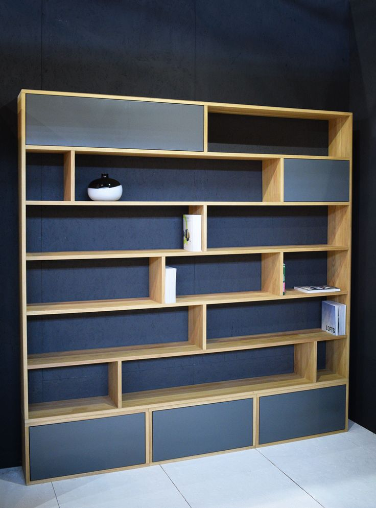 bibliotheca by willion.hu #bookcase #oakbookcase #minimalism
