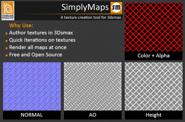 Download SimplyMaps v1.0 for 3dsMax 2012 - 2015 - Plugins Reviews and Download free for CG Softwares