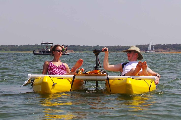 DIY Catamayak -- catamaran kayak with motor mount