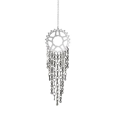 Look what I found at UncommonGoods: upcycled bicycle link wind chime... for $38 #uncommongoods