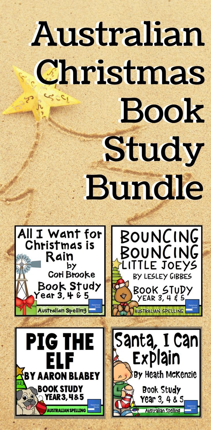 Engage students in the lead up to Christmas with Australian Christmas book studies for Year 3, Year 4 and Year 5. Explore Pig the Elf, All I Want for Christmas is Rain, Bouncing Bouncing Little Joeys and Santa, I Can Explain with more than 200 pages of resources at a lowered price #australianchristmas #picturebooks #christmasbooks #christmaslessons #teacherresources #christmasteachingresources