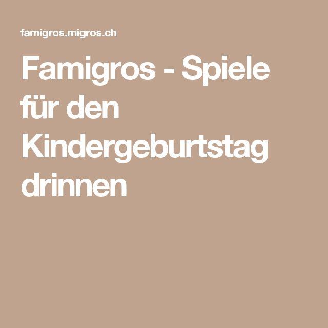 Famigros - Spiele für den Kindergeburtstag drinnen