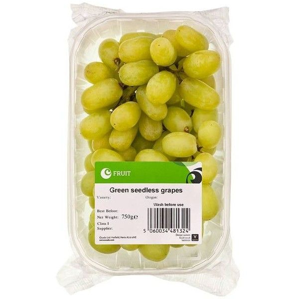 Ocado Green Seedless Grapes ($5.08) ❤ liked on Polyvore featuring food, fillers, food and drink, food & drinks and food fillers