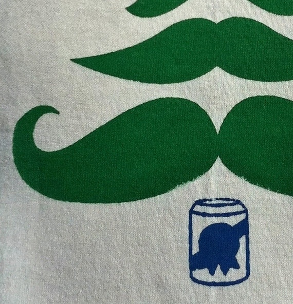 Hipster Holiday Mustache Christmas Tree! $18
