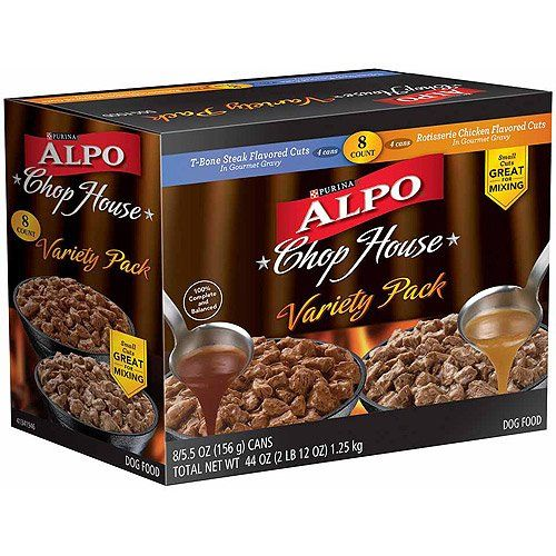 Alpo Chop House - Variety Pack - T-Bone Steak (4 Cans) and Rotisserie Chicken (... >>> Amazing product just a click away  : Dog food types