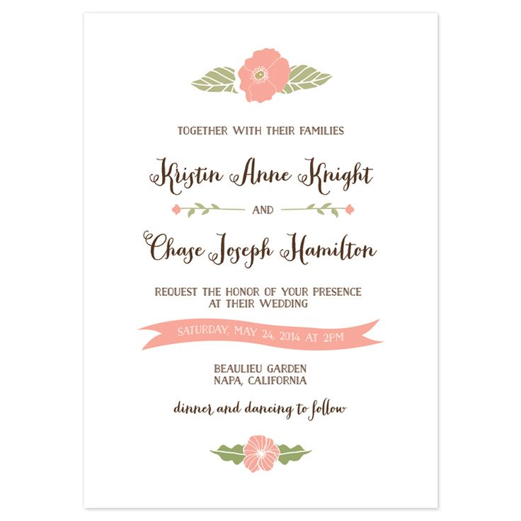 invites Wedding Ideas Pinterest Wedding card sample, Wedding - formal dinner invitation sample