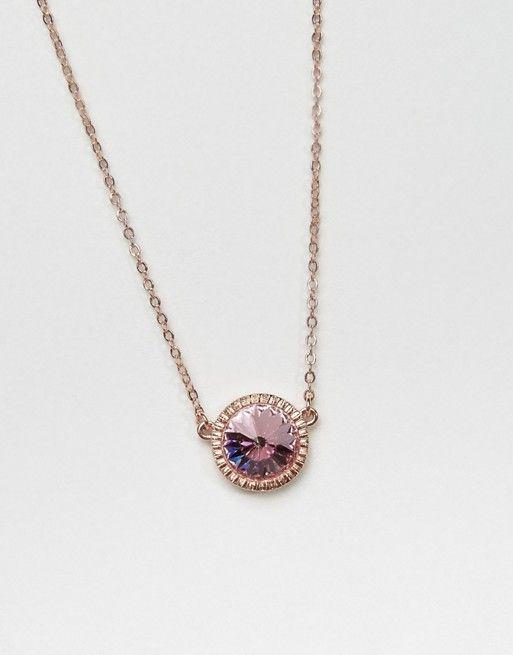 Ted Baker Rivoli Crystal Pendant Necklace