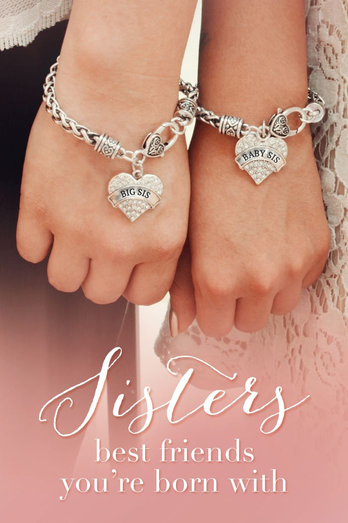 Do you love you sisters? Sisters share an unspoken bond throughout life. #inspiredsilver now has matching sister bracelets for everyone in the family. Big Sis, Middle Sis, Little Sis, Baby sis and don't forget mom.