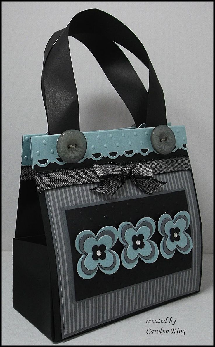 """I found a great tutorial by Silvey Shim  on how to make a mini bag using a 11"""" x 8 1/2"""" piece of cardstock.   I have adapted the measurement..."""
