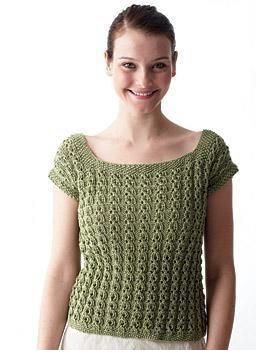 Knit a female prime with lacy eyelet rib and cap sleeves with this free knitting pattern. Knit in barely 2 items, this light-weight prime is ideal because the days heat up. The soft yarn may be a mixture of natural cotton and corn. #knitting #knit #hobbies | Housewiveshobbies.com