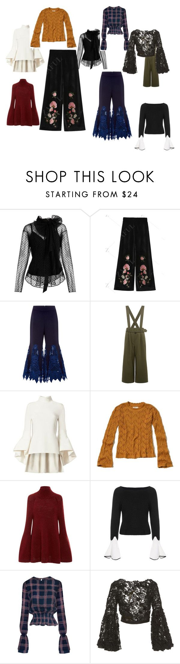 """Untitled #13"" by stapleluc on Polyvore featuring Marc Jacobs, Jonathan Simkhai, TIBI, Brandon Maxwell, Hollister Co., Rosetta Getty and Johanna Ortiz"