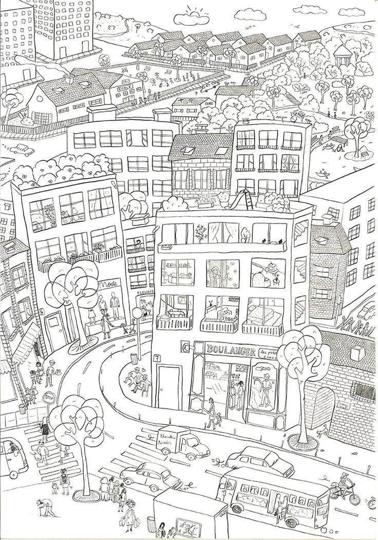 city coloring pages high resolution free coloring pages for kids - Free Coloring On Line