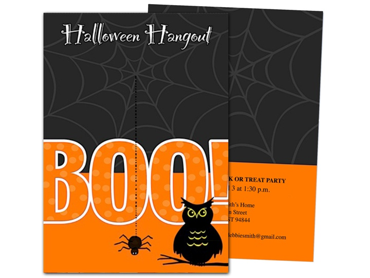 boo halloween party invitation template