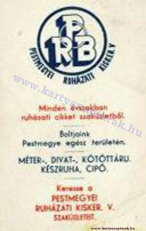 1960 - 1960_0099 - Régi magyar kártyanaptárak
