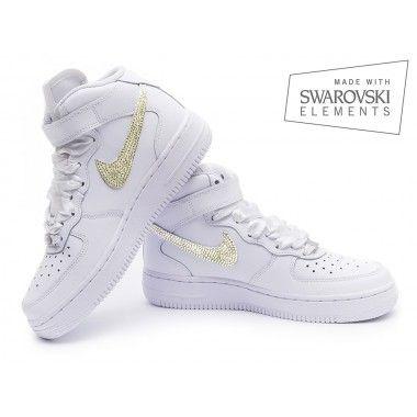 Nike Air Force 1 Swarovski White Gold