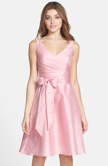 Alfred Sung Peau de Soie Fit & Flare Dress available at #Nordstrom