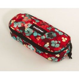 Cute floral pencil case for the girls by Eastpak. (Eastpak Oval Penalhus Rød)
