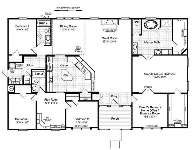 26 Small Kitchen Design Layout Floor Plans Open Concept Ideas 45 Apikhome Co Modular Home Floor Plans Mobile Home Floor Plans Manufactured Homes Floor Plans