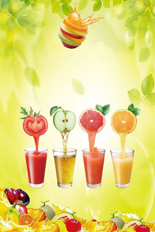 Creative Fresh Fresh Juice Poster Background Material Juiceplus Fresh Juice Juice Menu Fresh Fruit Juice